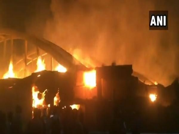 A visual of the fire in Dasna on Friday.
