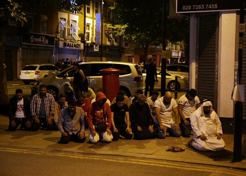 Many local Muslim worshippers complained that police did not immediately treat the van attack near a London mosque as a terrorist incident (AFP Photo/Daniel LEAL-OLIVAS)