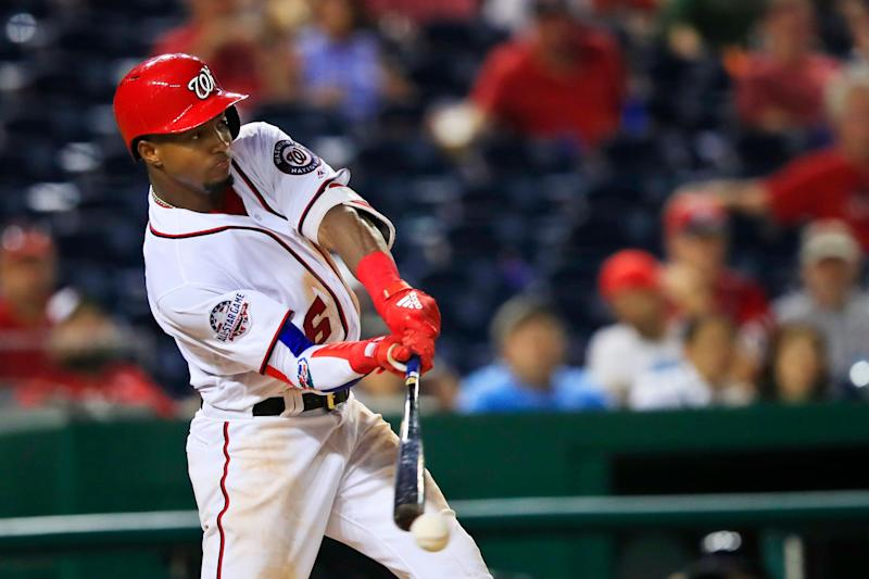 Washington Nationals outfielder Victor Robles can help in multiple fantasy categories. (AP Photo/Manuel Balce Ceneta)