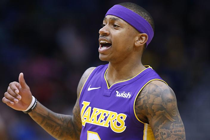 The Los Angeles Lakers have worked out point guard Isaiah Thomas, who played in 17 games for the Lakers in the 2017-18 season. (Jonathan Bachman/Getty Images)