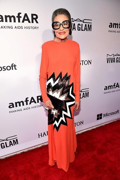 The socialite who uses her impressive closet of clothes to support charity was one of the best dressed of the night in an eye-catching Tom Ford gown.