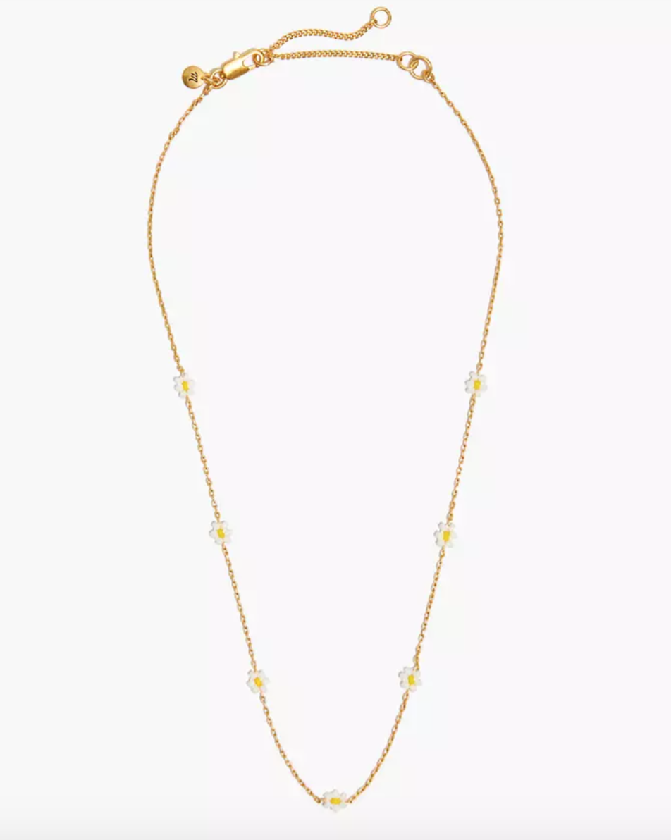 """<h2>30% Off Select Madewell Styles With Code SPREETIME</h2><br>""""While my cyber scouring was focused almost entirely on Amazon, I did what most seasoned seals shoppers know should be done during this time of year — I checked out the strategically launched counter promos popping up all over the internet, and ended up with this dainty little <a href=""""https://www.madewell.com/seed-bead-daisy-chain-necklace-MA009.html?dwvar_MA009_color=EB7318&cgid=sale-auto-jewelry#prefn1=isBackroom&prefv1=false&start=11"""" rel=""""nofollow noopener"""" target=""""_blank"""" data-ylk=""""slk:daisy necklace"""" class=""""link rapid-noclick-resp"""">daisy necklace</a>.""""<br><br><em>— Amanda Randone, Contributing Writer</em><br><br><strong>Madewell</strong> Seed Bead Daisy Chain Necklace, $, available at <a href=""""https://go.skimresources.com/?id=30283X879131&url=https%3A%2F%2Fwww.madewell.com%2Fseed-bead-daisy-chain-necklace-MA009.html%3Fdwvar_MA009_color%3DEB7318"""" rel=""""nofollow noopener"""" target=""""_blank"""" data-ylk=""""slk:Madewell"""" class=""""link rapid-noclick-resp"""">Madewell</a>"""