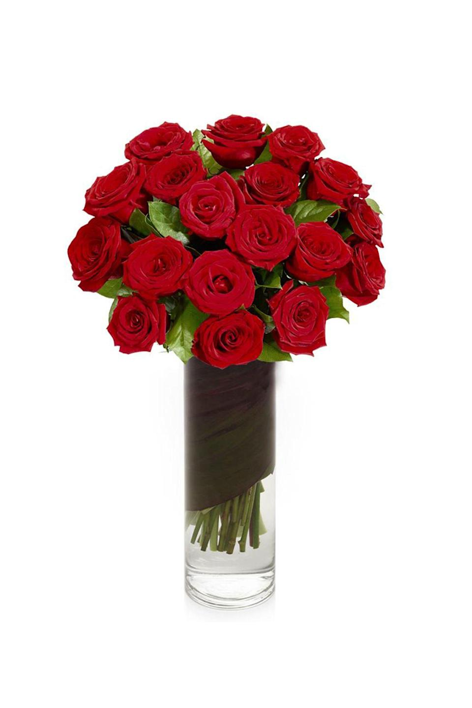 """<p><strong>H.Bloom</strong></p><p>hbloom.com</p><p><strong>$185.00</strong></p><p><a href=""""https://www.hbloom.com/collections/all-hbloom/products/2-dozen-red-roses-in-vase"""" rel=""""nofollow noopener"""" target=""""_blank"""" data-ylk=""""slk:Shop Now"""" class=""""link rapid-noclick-resp"""">Shop Now</a></p><p><a href=""""https://www.hbloom.com/"""" rel=""""nofollow noopener"""" target=""""_blank"""" data-ylk=""""slk:H.Bloom"""" class=""""link rapid-noclick-resp"""">H.Bloom</a> is where luxury and floral arrangements meet. Founded in 2010, they believe flowers are living art. H.Bloom also offers a subscription service of custom floral arrangements tailored to your style and space, starting at just $75 per delivery.</p>"""