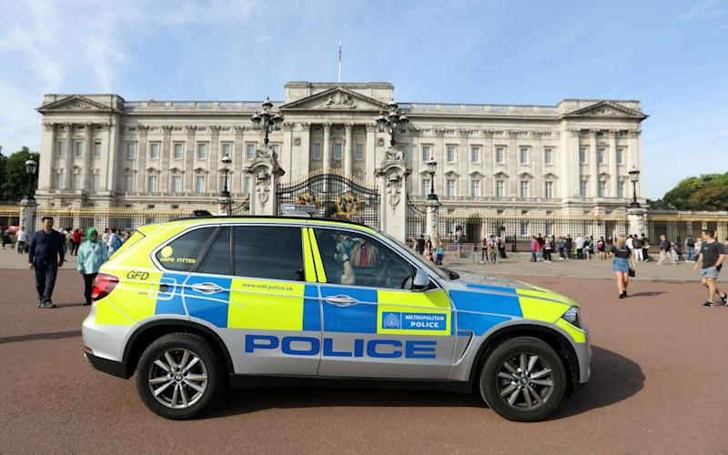 A man was arrested at the visitors' entrance at Buckingham Palace - REUTERS