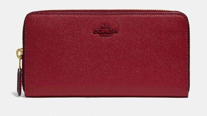 This zip-around wallet is less than $75 right now.