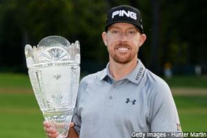 Hunter Mahan wins The Barclays at The Ridgefield Country Club to assume the lead after one leg of the FedExCup Playoffs