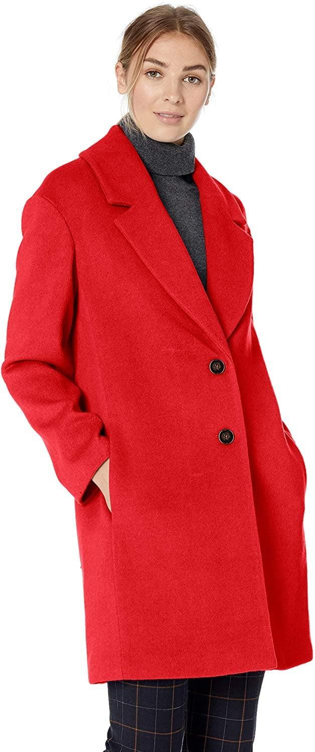 <p>This <span>Lark & Ro Single-Breasted Shawl Collar Coat</span> ($99) comes in black or gray as well.</p>