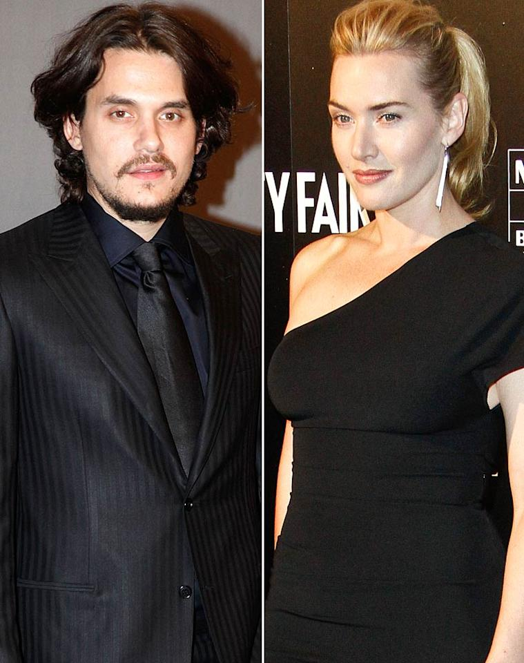 """Kate Winslet's trying her best to keep her steamy new hookup under wraps,"" reports <i>Star</i>, which reveals the Oscar winner is now ""secretly spending time"" with John Mayer. According to the magazine, the two recently met at a party in New York, where Mayer ""really put the moves on her, and Kate eventually responded."" Winslet, though, is ""begging [Mayer] not to blab"" about their romance. For the full dish on how intense their relationship is surprisingly becoming, read what an insider confesses to <a href=""http://www.gossipcop.com/kate-winslet-john-mayer-dating-hooking-up/"" target=""new"">Gossip Cop</a>. WireImage.com/Splash News"