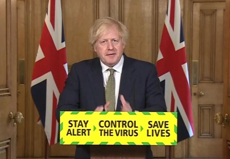 Screen grab of Prime Minister Boris Johnson during a media briefing in Downing Street, London, on coronavirus (COVID-19).