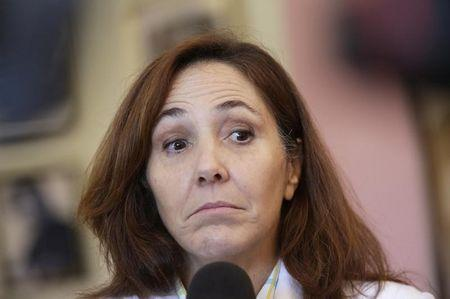 Mariela Castro, director of the Cuban National Center for Sex Education, National Assembly member and daughter of Cuba's President Raul Castro talks to the media in Havana