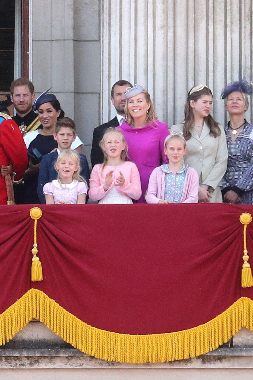 <p><strong>Branch of the Family Tree: </strong>Children of Lady Rose Gilman; grandchildren of Prince Richard, Duke of Gloucester</p><p><em>(Lyla is to the front right wearing a blue patterned dress and pink sweater, Rufus Gilman is not pictured) </em></p>