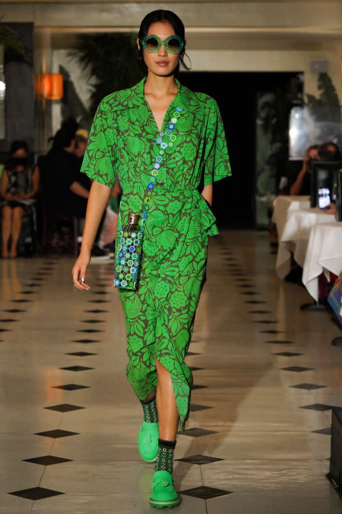 A green look from Anna Sui. - Credit: WWD