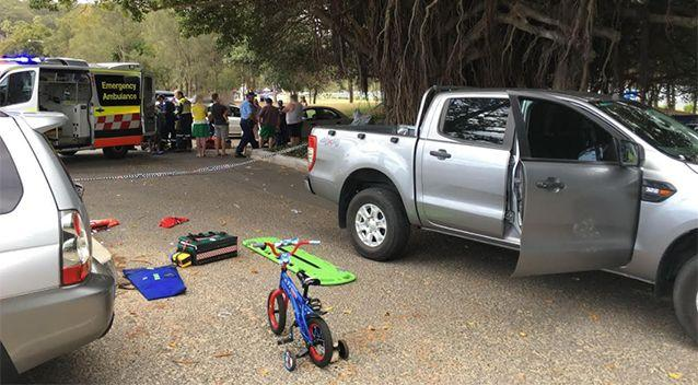 The boy was hit when he fell from his bike. Source: CareFlight