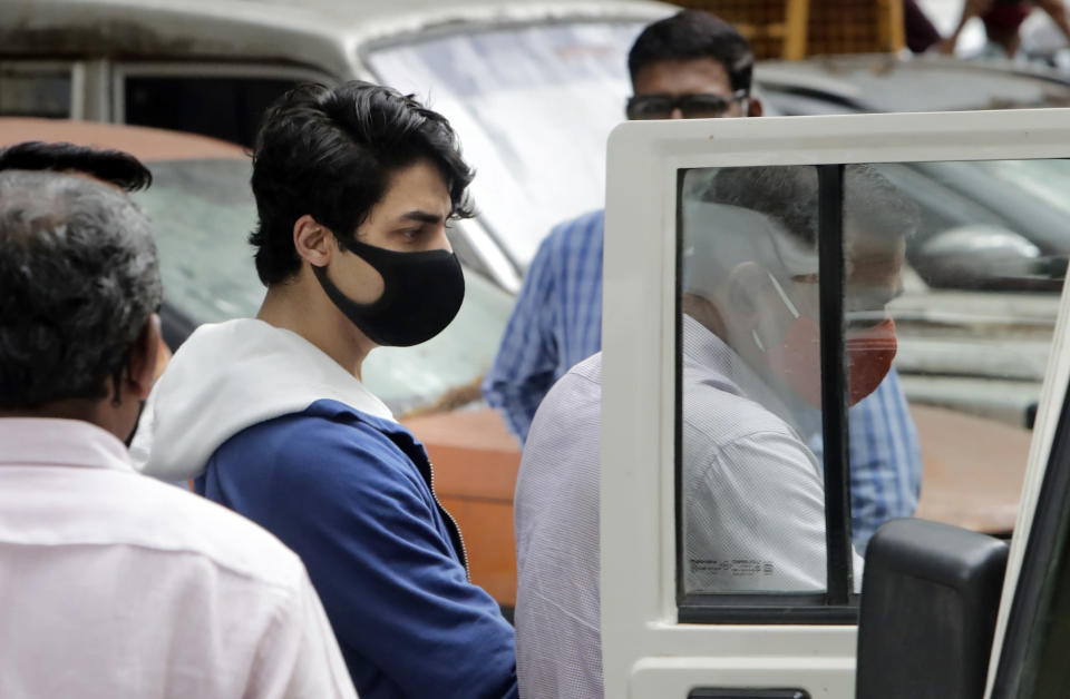 Indian court denies bail to Bollywood superstar's son