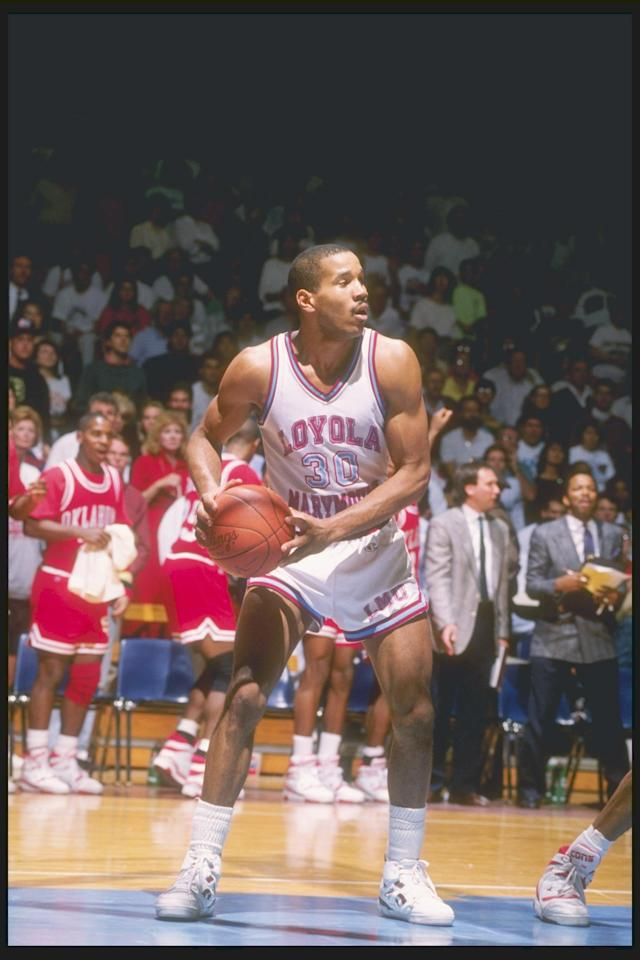 <p><span>Then: Kimble authored one of the most memorable moments, not just in tournament history, but in the history of sports when he took a free-throw left-handed, in honor of his fallen teammate Hank Gathers, and drained it in the 1990 Big Dance. Gathers, who also played high school ball with Kimble, collapsed during a televised game and died 12 days earlier.</span><br><span>Now: Kimble is the co-founder of the Forty-Four for Life Foundation – a nod to Gathers' jersey number – and sits on its board of directors. The group aims to raise awareness about heart diseases.</span> </p>