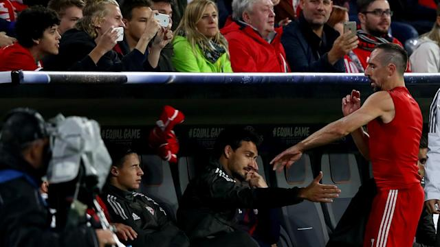 After throwing away his shirt when he was substituted in Tuesday's Champions League win over Anderlecht, Franck Ribery defended his actions.