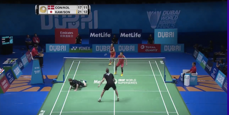 Denmark and Japan put on a incredible rally in the Dubai Superseries Finals 2016. (Photo: Screengrab from Youtube)