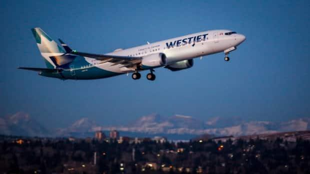 A WestJet flight from Calgary to Toronto was cancelled on Friday when a warning light came on in the cockpit of the Boeing 737 Max jet.