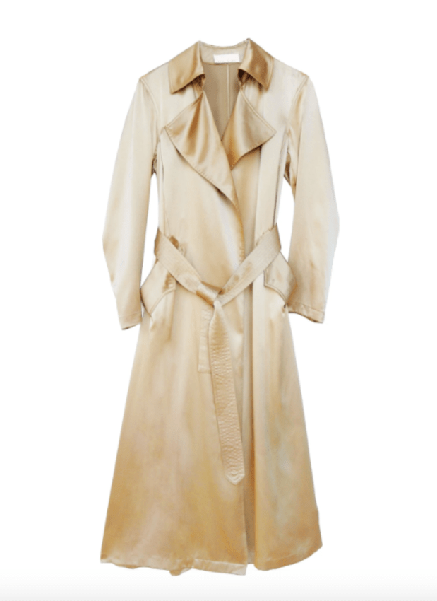 "<p>Fleur du Mal x Precious Satin Trench, $995, <a href=""https://rstyle.me/+HoL3BtZQrqhLrF10si19jw"" rel=""nofollow noopener"" target=""_blank"" data-ylk=""slk:available here"" class=""link rapid-noclick-resp"">available here</a>.</p>"