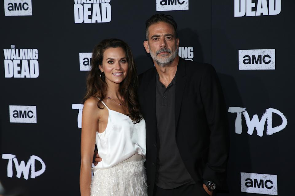 """HOLLYWOOD, CALIFORNIA - SEPTEMBER 23:  Hilarie Burton and Jeffrey Dean Morgan attend a special screening of AMC's """"The Walking Dead"""" Season 10 at Chinese 6 Theater– Hollywood on September 23, 2019 in Hollywood, California. (Photo by Phillip Faraone/FilmMagic)"""