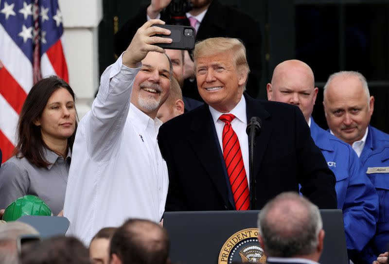 FILE PHOTO: U.S. President Trump hosts signing ceremony for USMCA trade deal at the White House in Washington