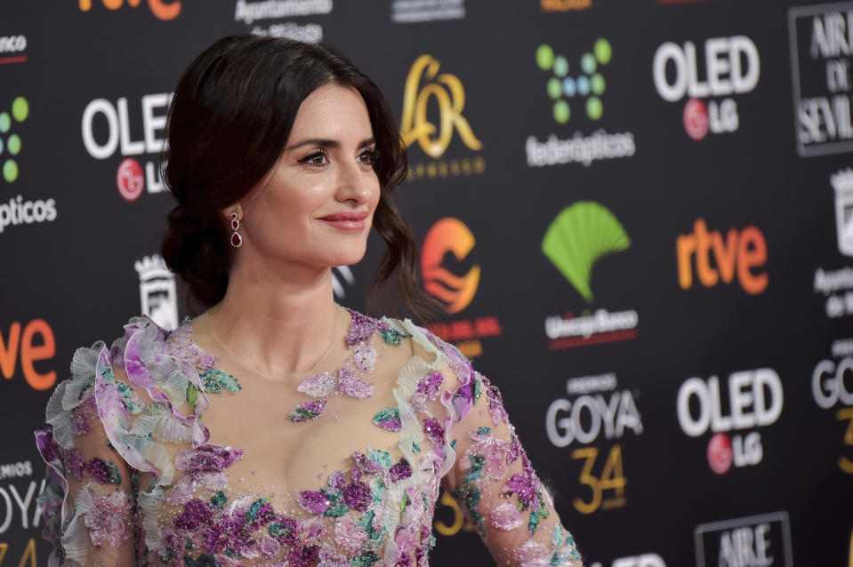 MALAGA, SPAIN - JANUARY 25: Penélope Cruz attends the Goya Cinema Awards 2020 during the 34th edition of the Goya Cinema Awards at Jose Maria Martin Carpena Sports palace on January 25, 2020 in Malaga, Spain. (Photo by Juan Naharro Gimenez/WireImage)