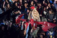 <p>Rapper Big Boi performs during the halftime show of Super Bowl LIII between the New England Patriots and the Los Angeles Rams at Mercedes-Benz Stadium in Atlanta, Georgia, on February 3, 2019. (Photo by Angela Weiss / AFP) </p>