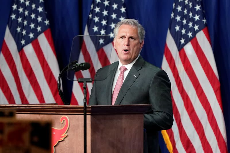 U.S. Republican McCarthy: 'very peaceful transition' of power after presidential election