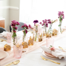 """<p>For an indoor Eid celebration, keep the candles off the table and consider LED lights for a flame-free celebration like Sana from <a href=""""https://www.instagram.com/p/B0l4UKQgY0t/"""" rel=""""nofollow noopener"""" target=""""_blank"""" data-ylk=""""slk:Lively Lair"""" class=""""link rapid-noclick-resp"""">Lively Lair</a> does here. These string lights illuminate mini wood cutouts to add a bit of tradition to a pastel tablescape.</p>"""