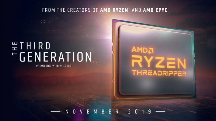 amd ryzen threadripper 3000 release date specs price 2019 3