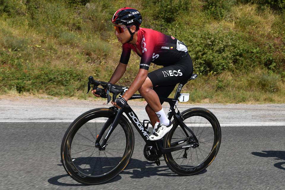 BEZIERS FRANCE  AUGUST 01 Egan Bernal of Colombia and Team Ineos  during the 44th La Route dOccitanie  La Depeche du Midi 2020 Stage 1 a 187km stage from Saint Affrique to Cazouls ls Bziers  RouteOccitanie  RDO2020  on August 01 2020 in Beziers France Photo by Justin SetterfieldGetty Images
