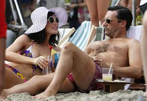 Jessica Pare, Jon Hamm | Photo Credits: Splash News