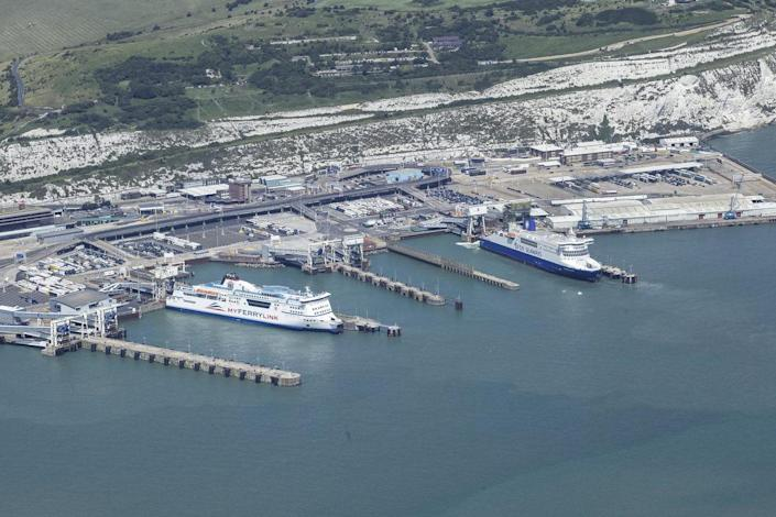 Action stations: Dover is expected to be extremely busy as travellers race to get home before quarantine takes effect: Port of Dover