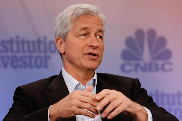 With no immediate plans to leave, the CEO of JPMorgan says the bank's next leader will be homegrown.