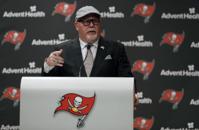 Bruce Arians became the fifth Bucs head coach since Jon Gruden's final 2008 season in Tampa. (AP)