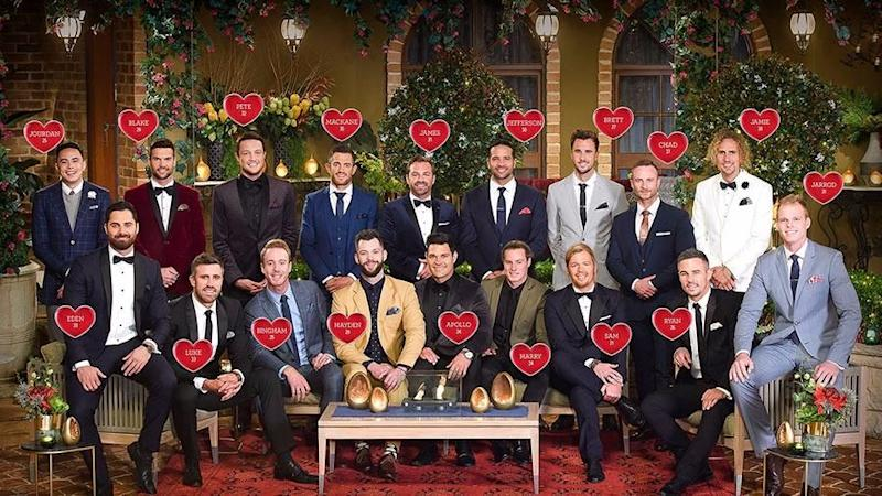 These are the 18 men vying for Sophie Monk's heart. Source: Ten/The Bachelorette Australia