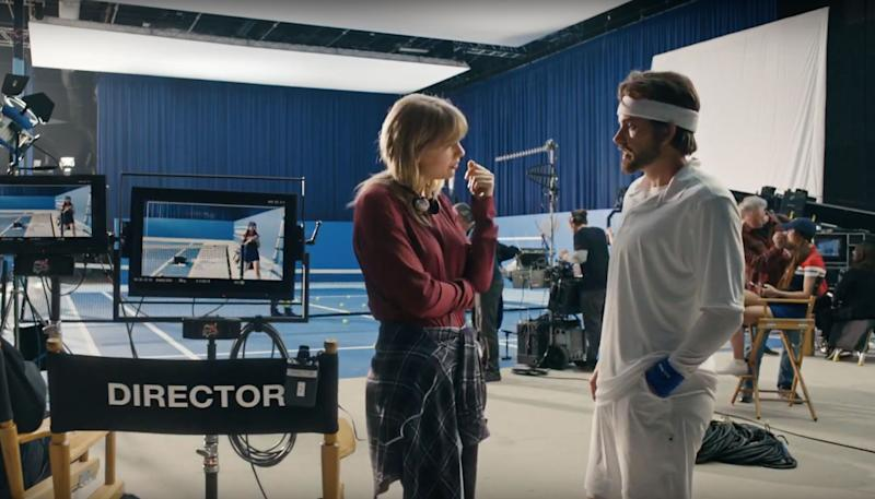 Taylor and Tyler come face to face at the end of the video (Photo: Vevo)