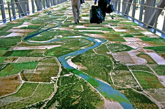 This photorealistic carpet offers an amazing bird's-eye view.