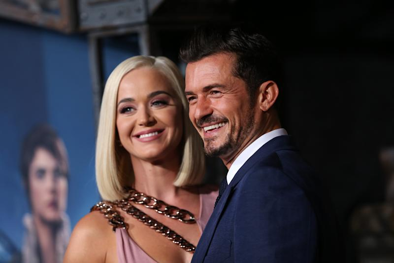 "Katy Perry and Orlando Bloom attend the LA premiere of Amazon's ""Carnival Row"" at TCL Chinese Theatre on August 21, 2019 in Hollywood, California. (Photo by Phillip Faraone/Getty Images)"