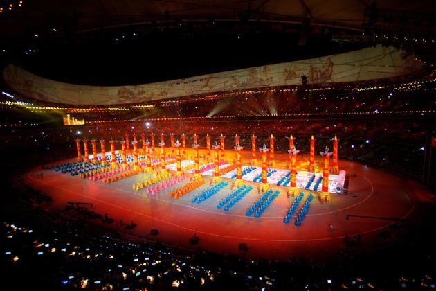 BEIJING - AUGUST 08:  A general view is seen during the Opening Ceremony for the 2008 Beijing Summer Olympics at the National Stadium on August 8, 2008 in Beijing, China.  (Photo by Mike Hewitt/Getty Images)