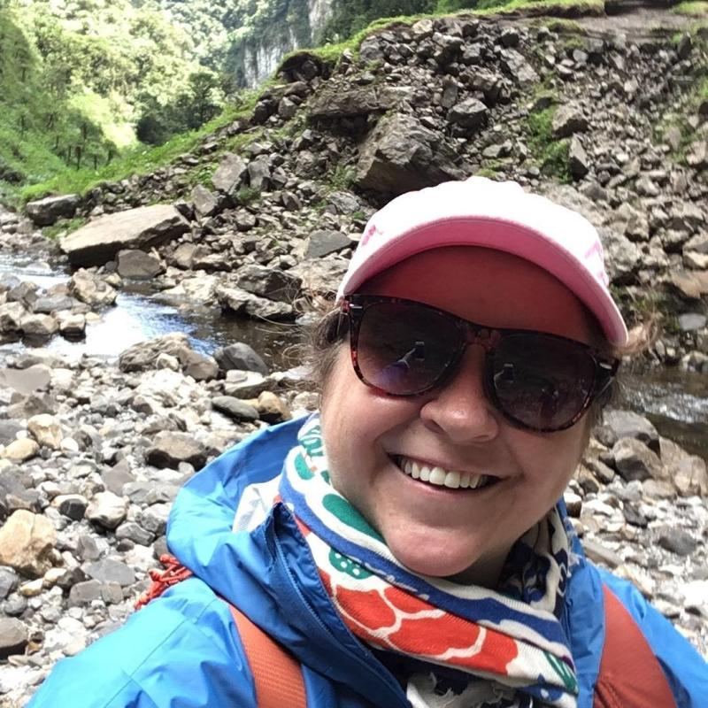 The author hiking in Peru (Courtesy of Fiona Tapp)