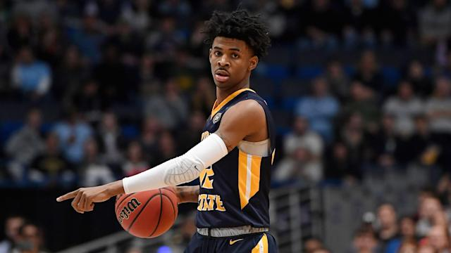 Ja Morant is expected to land with the Memphis Grizzlies in the draft next month, and said he has no issue playing in one of the smaller markets in the league. (AP/Jessica Hill)