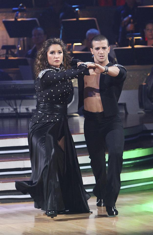"""Week 9: Ballas, finger ever on the pulse, noted the talk that Bristol was benefitting from her mother's supporters. She rejected the idea and went on to a powerful paso doble and respectable waltz. Her combined scores came to 53 out of 60 — quite good, but the lowest at such a competitive stage. Palin's win over singer Brandy sparked <a href=""""http://www.thewrap.com/television/column-post/bristol-palin-denies-dancing-conspiracy-22553"""" rel=""""nofollow"""">more complaints of a fix</a>. <a href=""""http://www.thewrap.com/television/article/how-bristol-palin-made-it-dancing-finals-22756"""" rel=""""nofollow"""">Source: The Wrap</a>"""
