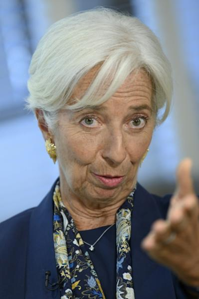 Christine Lagarde is expected to take over leadership of the European Central bank and calls for policymakers to address manmade threats to global growth (AFP Photo/Eric BARADAT)