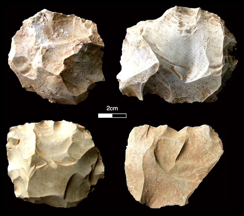 Stone tools found at the site