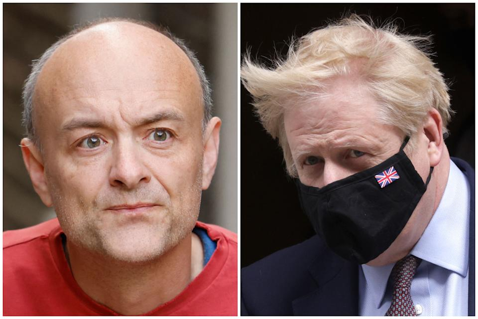 Dominic Cummings said it's 'completely crackers' Boris Johnson is PM. (Getty Images)