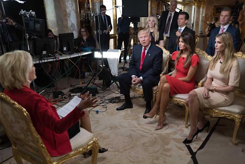 "f789eb12b1fc Melania Trump Wears Christian Louboutin for ""60 Minutes"" Interview"