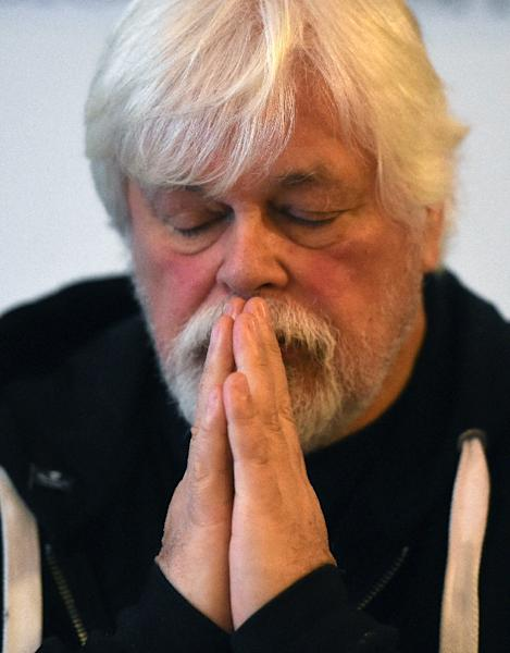 Leader of the environmental activist group Sea Shepherd, Paul Watson, pictured during a meeting in Lyon, France, on January 16, 2016 (AFP Photo/Philippe Desmazes)