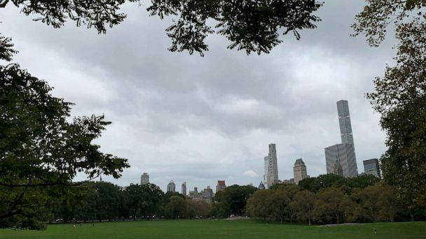 PHOTO: Clouds roll over Central Park, Oct. 16, 2019, in New York City. (Jeff Swartz/ABC News)