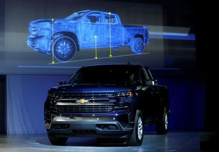 General Motors reveals its 2019 Chevrolet Silverado pick-up truck at Eastern Market before the start of Press Days of the North American International Auto Show in Detroit, Michigan, U.S., January 13, 2018.   REUTERS/Rebecca Cook